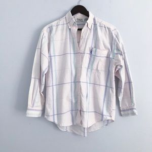 Vintage 90s oversized button down top